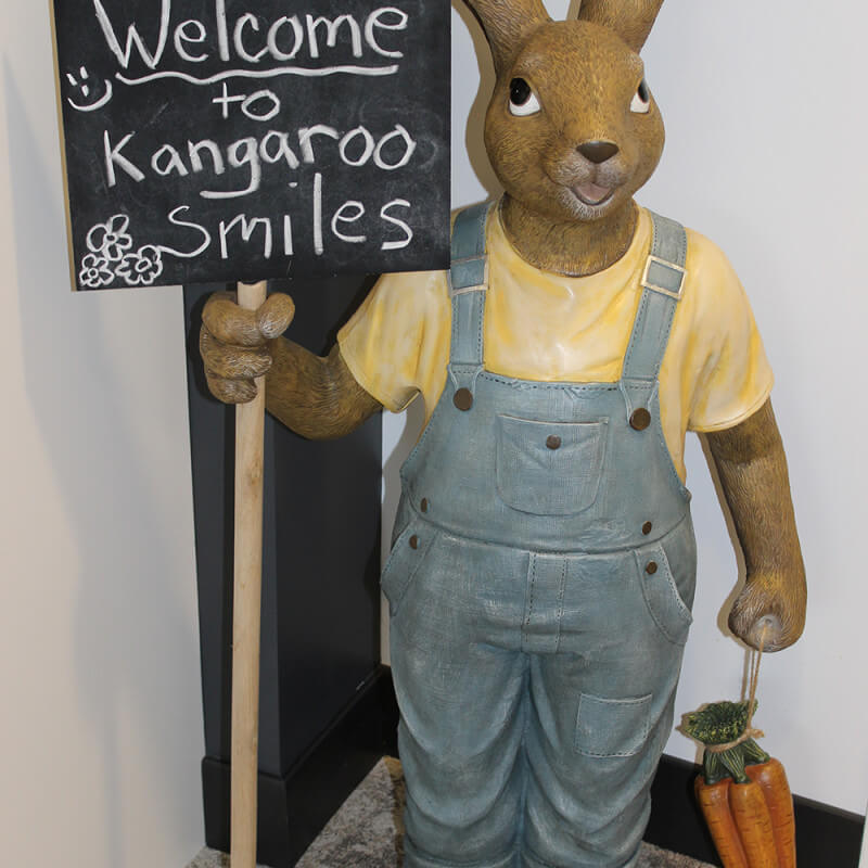 warm and excited welcome at Kangaroo Smiles